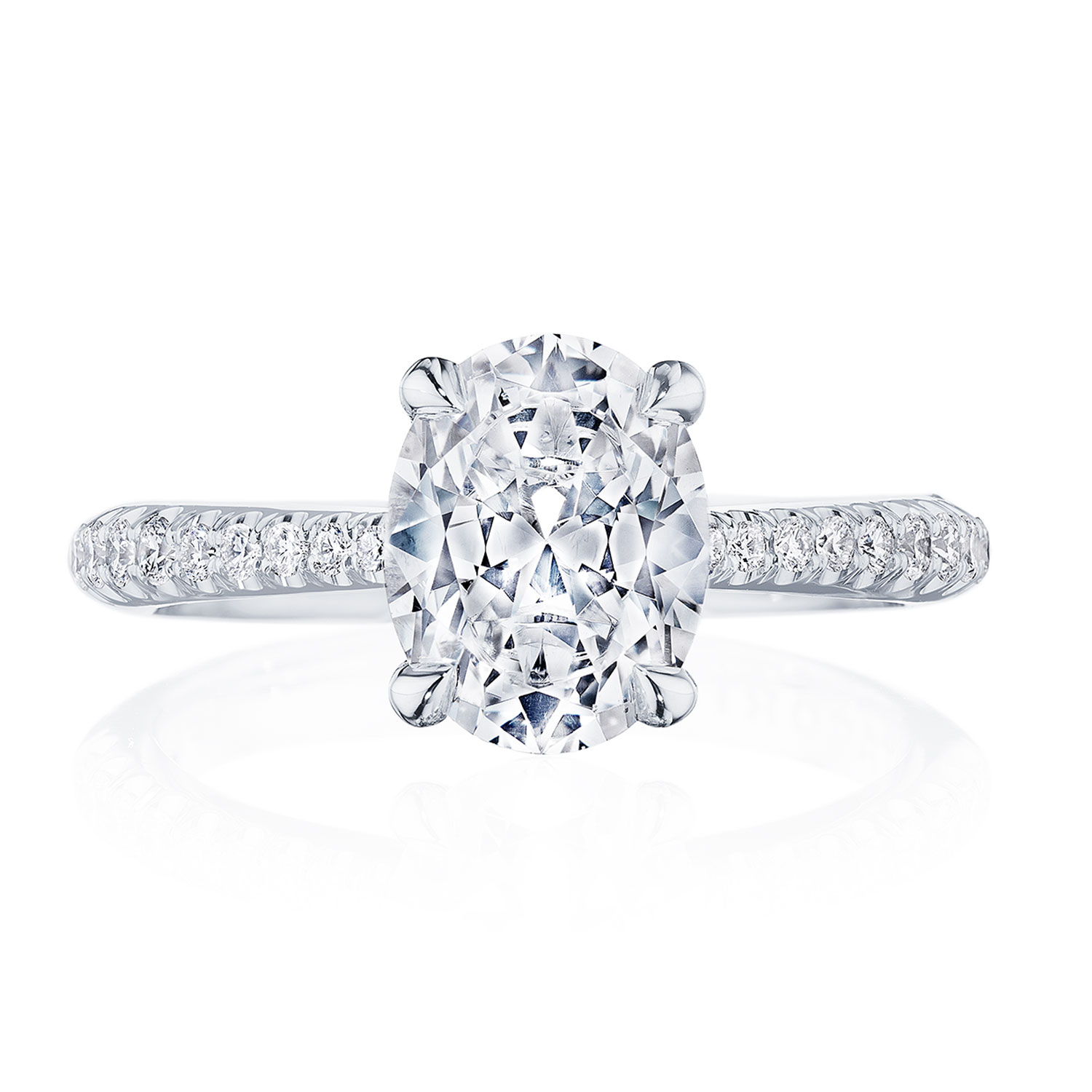 Tacori Settings – Engagement Rings Intended For Latest Classic Sparkle Halo Rings (View 19 of 25)