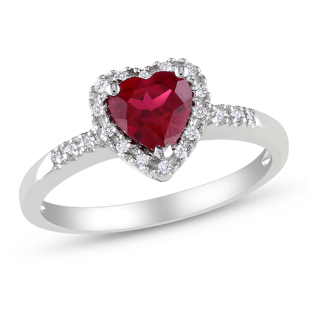 Tangelo 1 Carat T.g.w. Created Ruby And 0.10 Carat T.w (View 15 of 25)