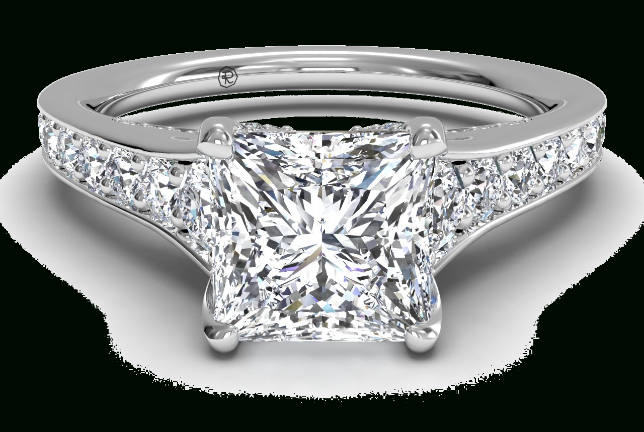 Tapered Pavé Diamond Band Engagement Ring – In 14Kt White Gold (0.48 Ctw) Regarding Best And Newest Elegant Pavé Band Rings (Gallery 24 of 25)