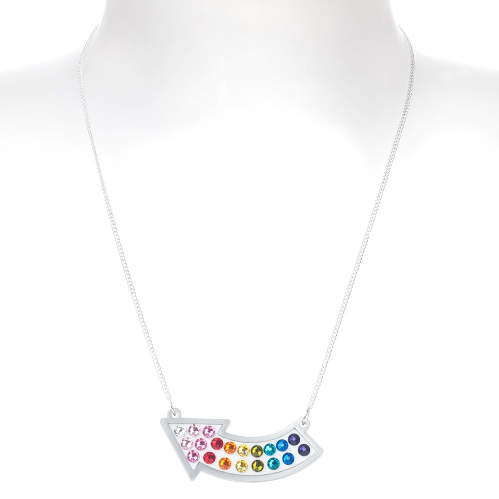 Tatty Devine Fairground Lights Arrow Necklace Pertaining To 2019 Sparkling Arrow Necklaces (View 18 of 25)