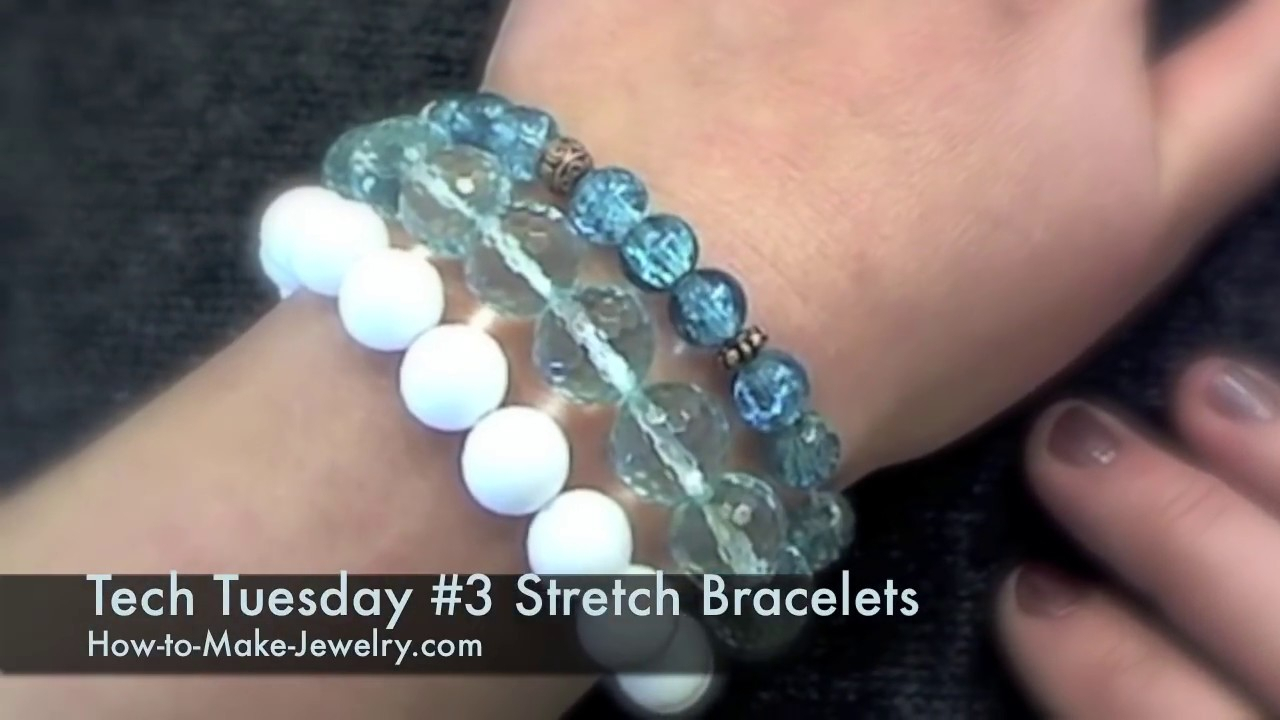 Tech Tuesday 3 Knotting Stretch Bracelets – Diy Beaded Elastic Bracelets For Newest String Of Beads Y  Necklaces (Gallery 23 of 25)