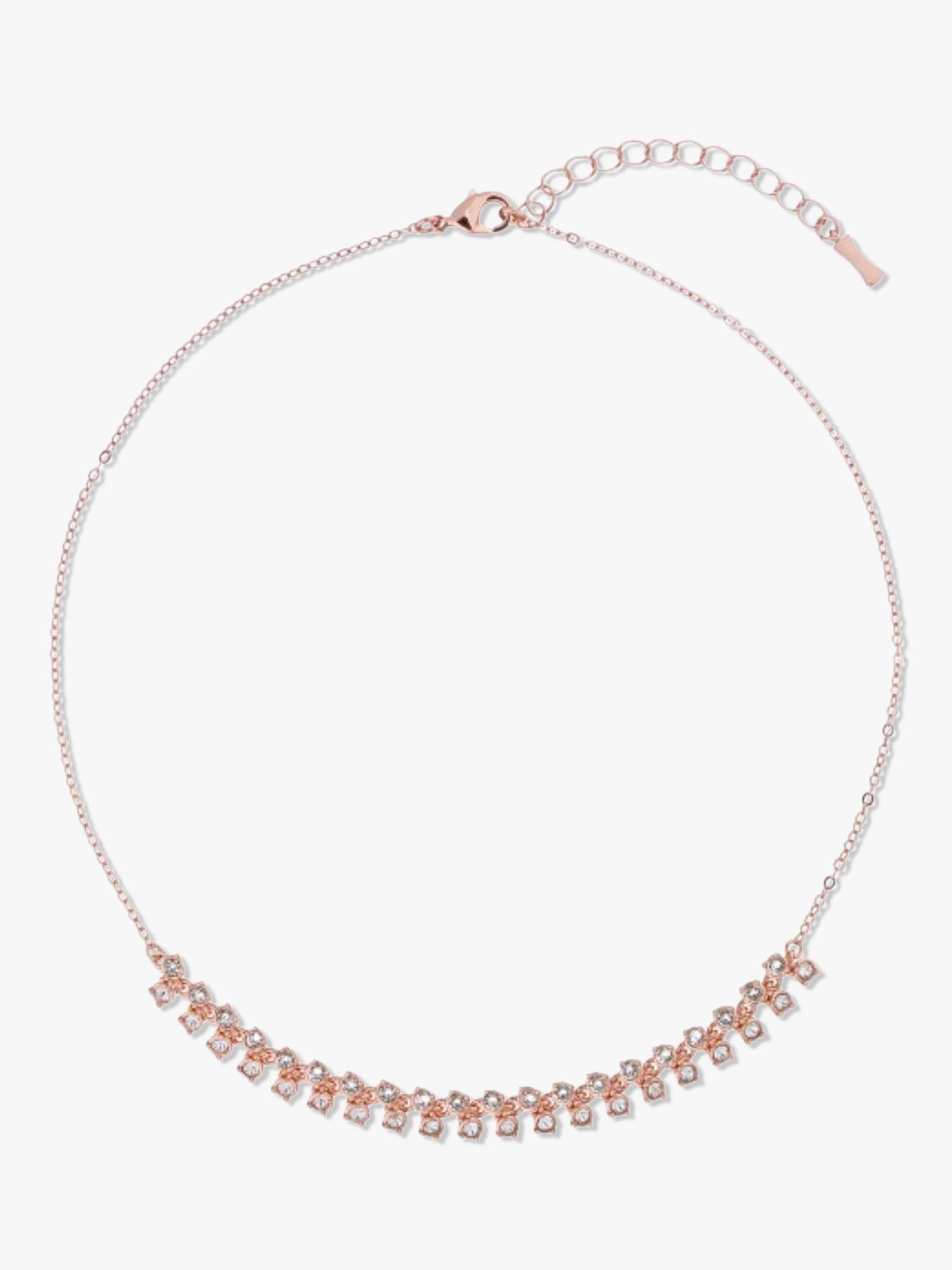 Ted Baker Eada Princess Sparkle Collar Necklace In Metallic – Lyst Inside Current Sparkling Square Halo Pendant Necklaces (Gallery 25 of 25)