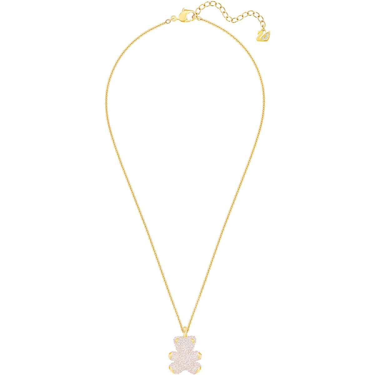 Teddy 3D Pendant, Pink, Gold Plating In 2019 | Odeca 2018 | Pendant In Most Popular Theodore Bear Pendant Necklaces (Gallery 22 of 25)