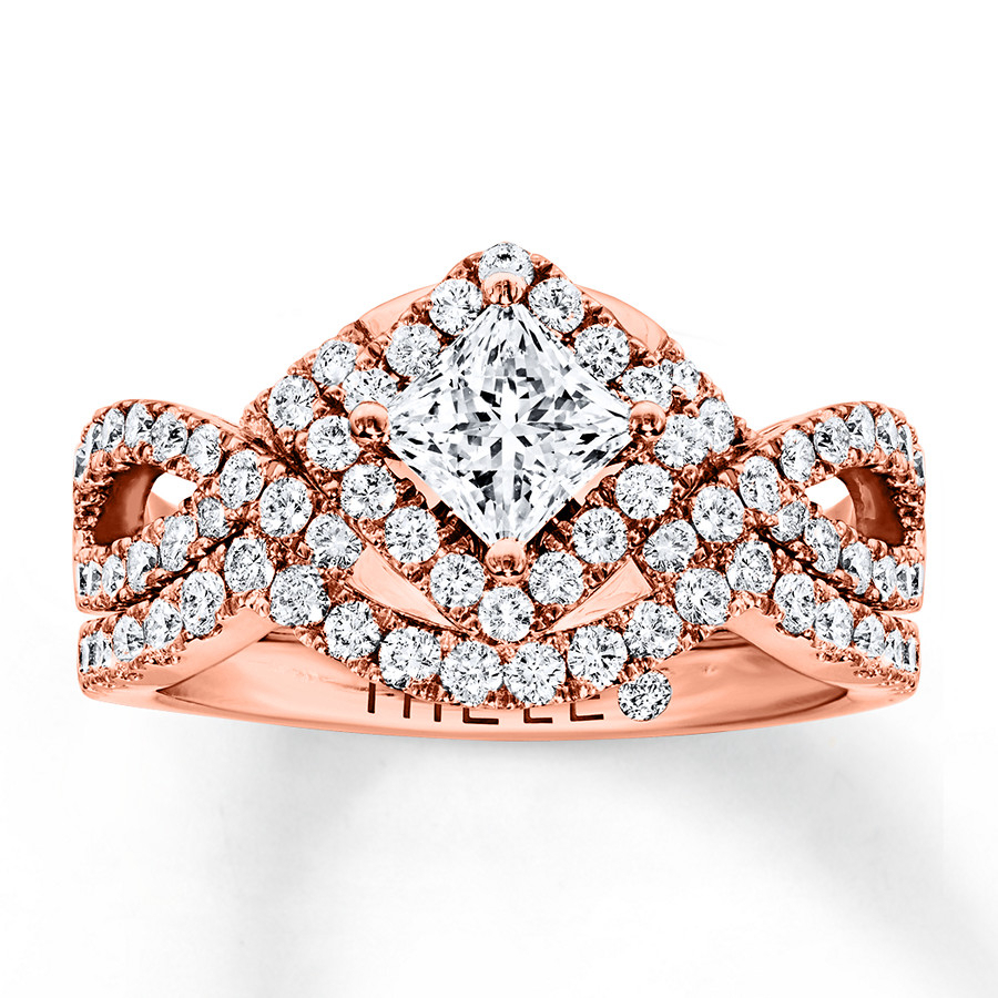 The Collection – The Leo Diamond For 2020 Diamond Three Row Anniversary Bands In Rose Gold (Gallery 24 of 25)