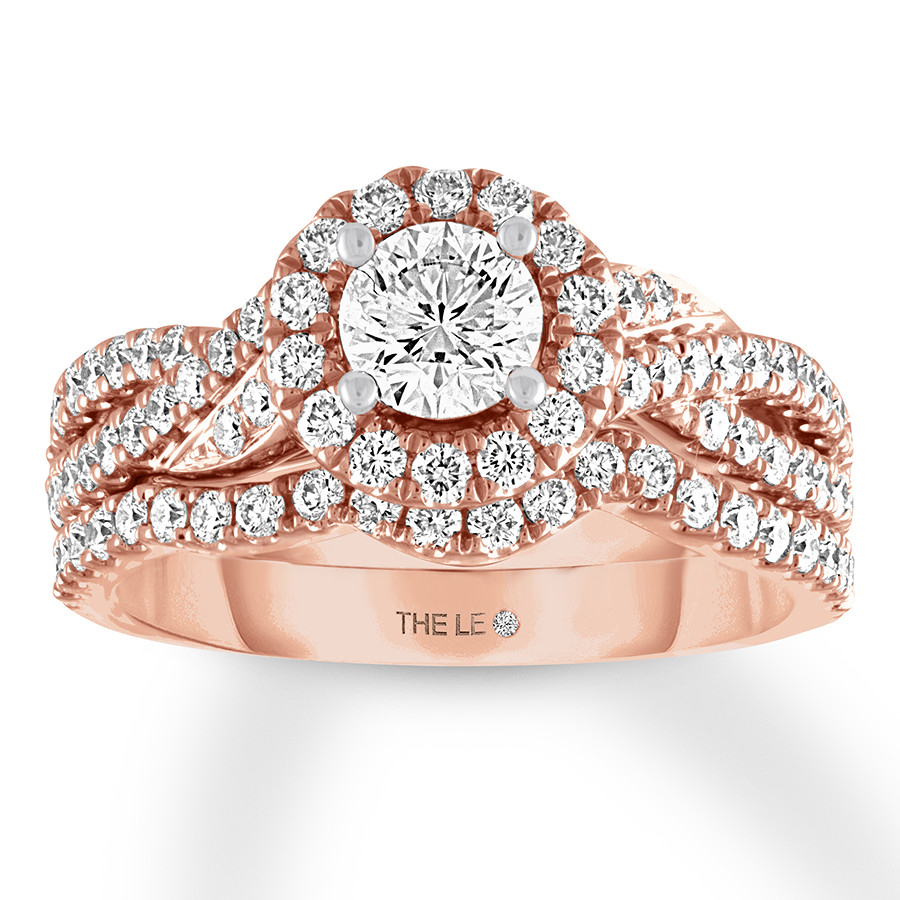 The Collection – The Leo Diamond For Most Up To Date Certified Diamond Anniversary Bands In Rose Gold (Gallery 15 of 25)