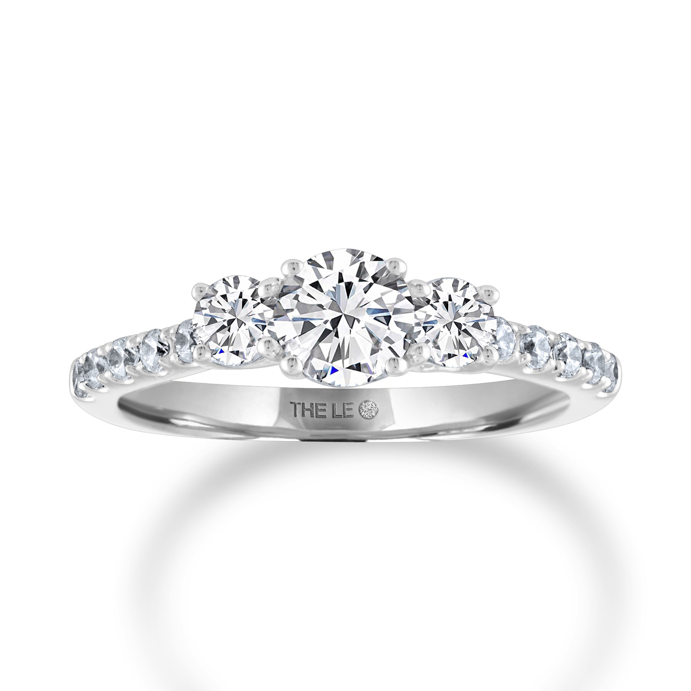 The Collection – The Leo Diamond For Newest Diamond Seven Stone Anniversary Bands In Sterling Silver (Gallery 20 of 25)