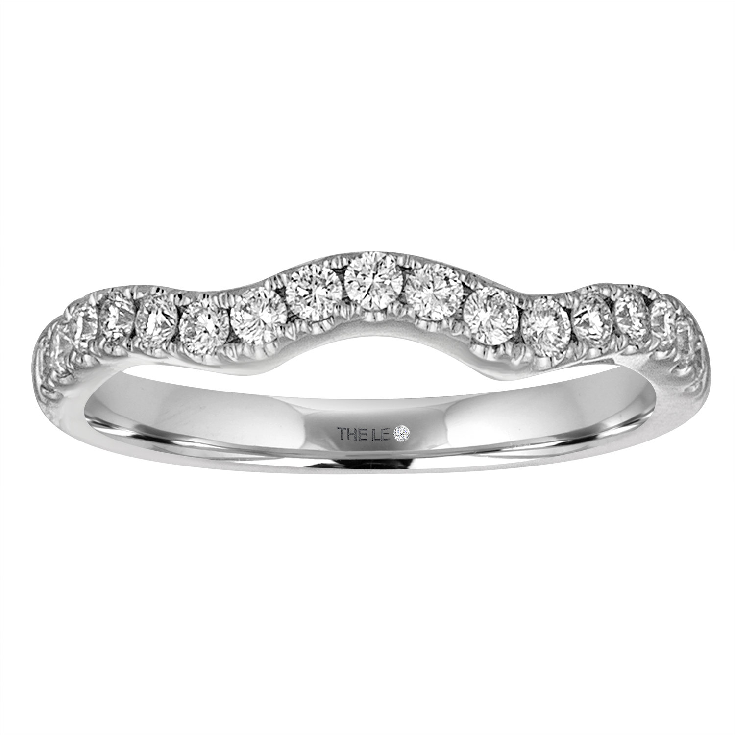 The Collection – The Leo Diamond In Best And Newest Diamond Slant Anniversary Bands In White Gold (View 11 of 25)