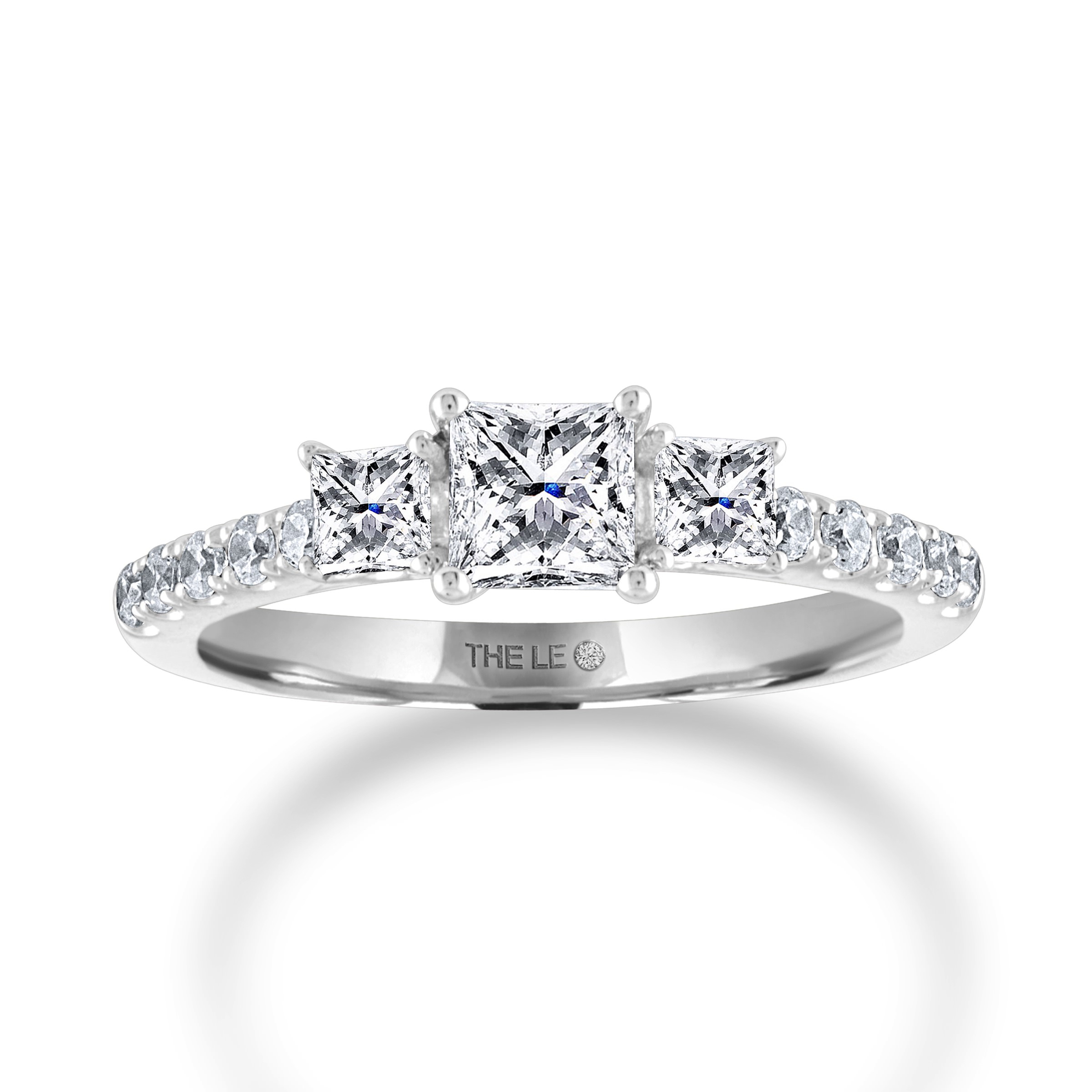 The Collection – The Leo Diamond Inside Best And Newest Diamond Seven Stone Anniversary Ring In White Gold (Gallery 21 of 25)