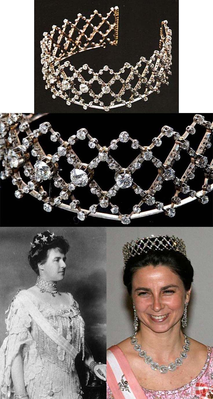 The Queen Of Portugal Diamond Choker/ Tiara. In 1900 Appeared In With 2019 Tiara Crown Collier Necklaces (Gallery 3 of 25)