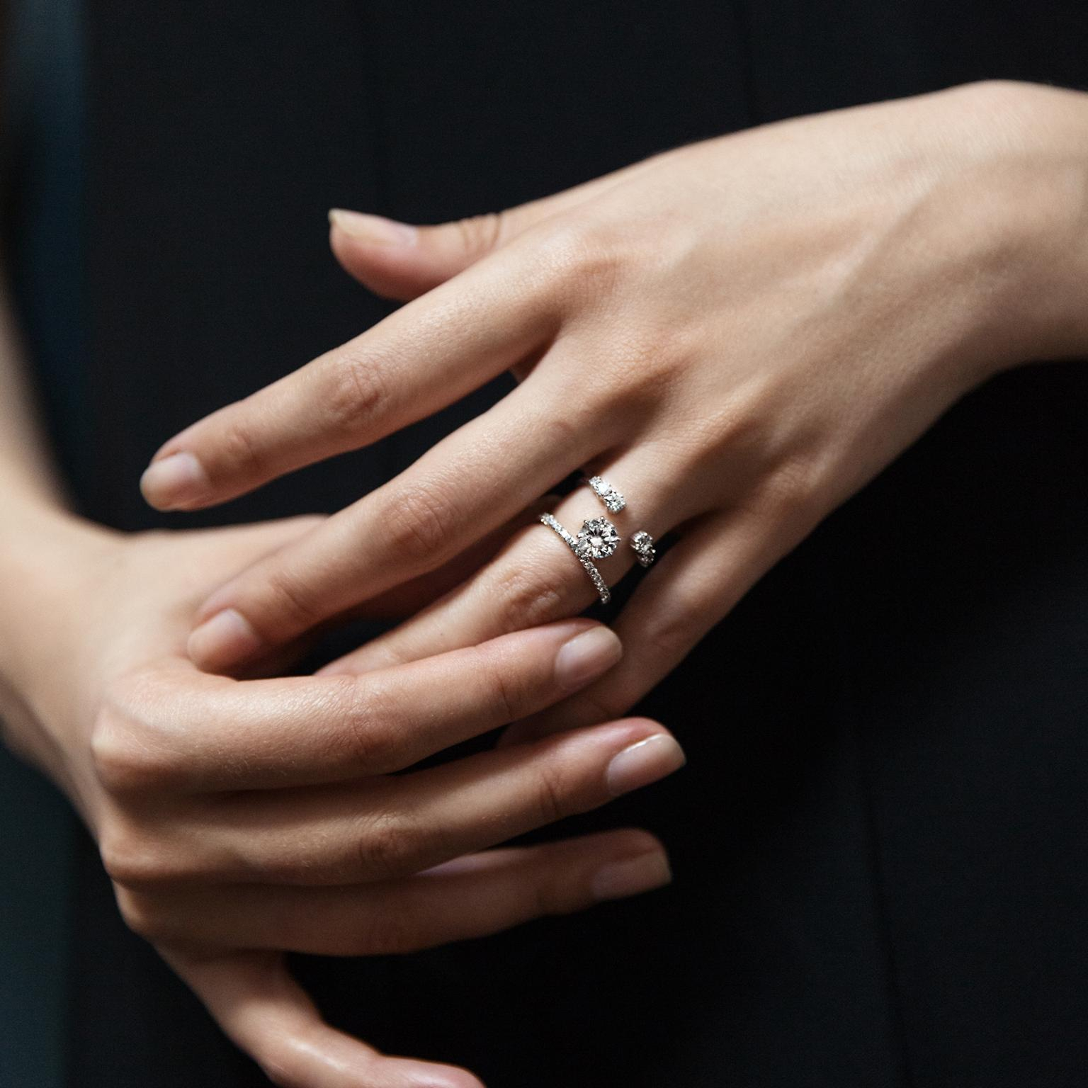 The Seven Engagement Ring Trends That Are Huge In 2017 | The For Current Sparkling Square & Circle Open Rings (Gallery 19 of 25)