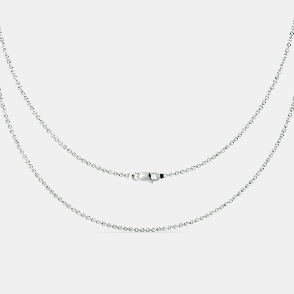 The White Gold Cable Chain Throughout Newest Cable Chain Necklaces (Gallery 16 of 25)