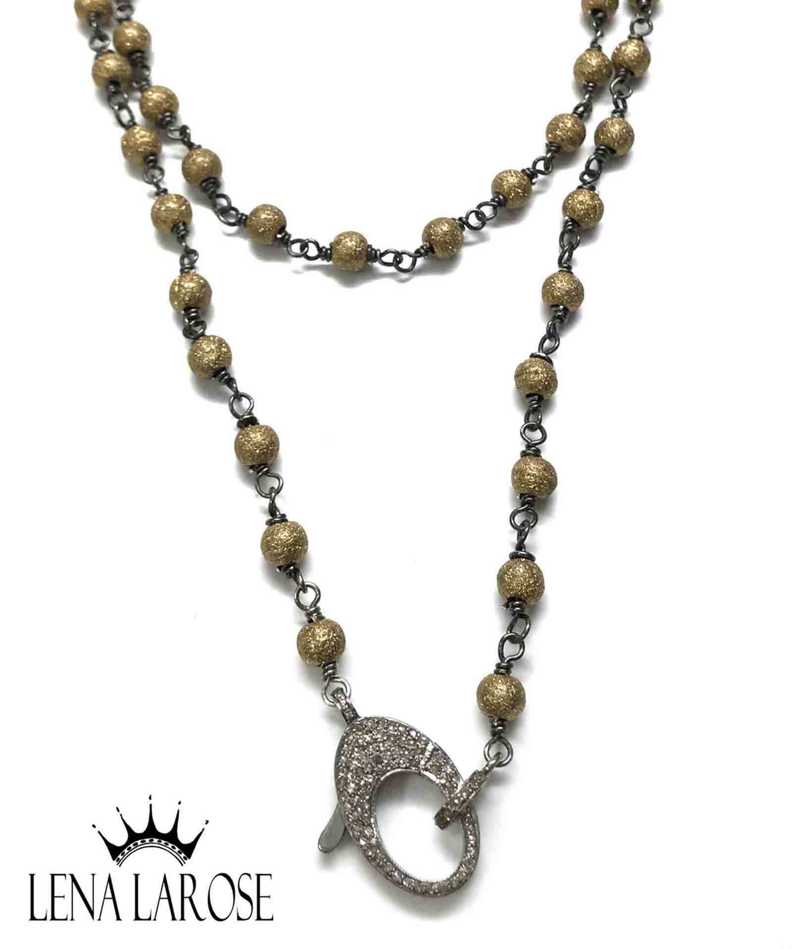 "The Woods Fine Jewelry Brass Beaded Chain, 35"" Inside Most Recently Released Beaded Chain Necklaces (View 24 of 25)"