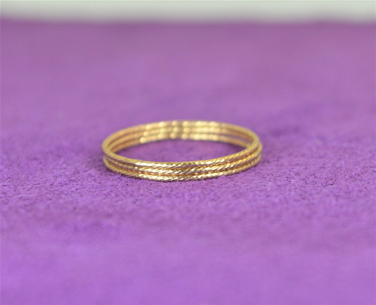 Thin Gold Filled Sparkle Ring, Gold Ring, Stacking Ring(S), Dainty Inside Most Recent Elegant Sparkle Rings (View 23 of 25)
