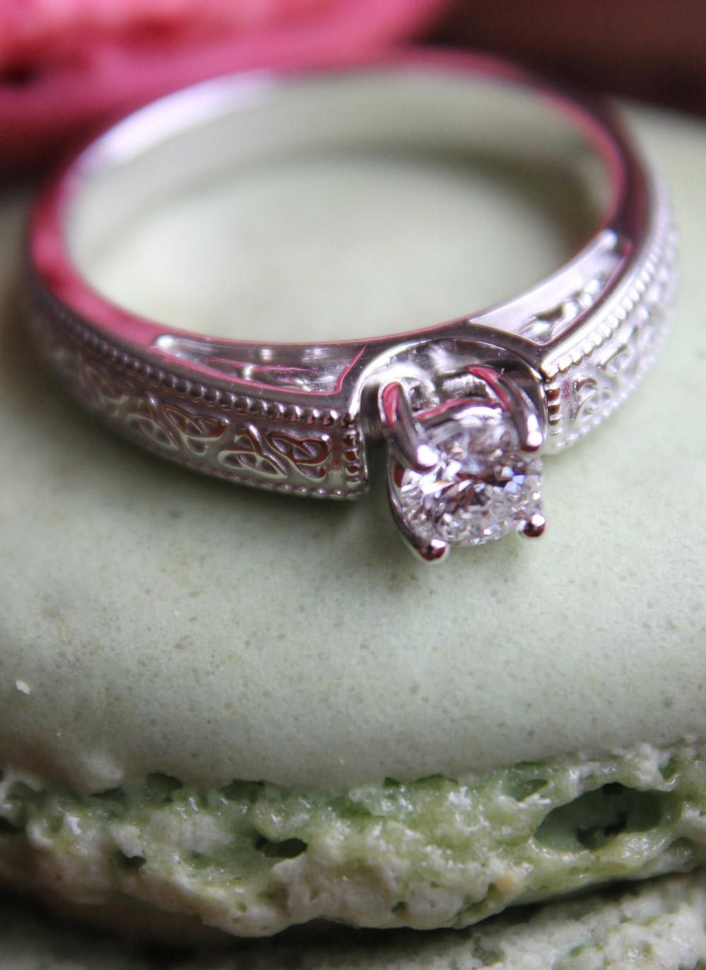 This Stunning Engagement Ring Features Celtic Trinity Knots And One With Newest Shimmering Knot Rings (View 14 of 25)