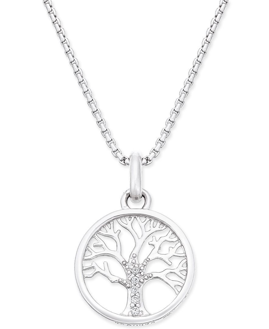 Thomas Sabo Karma Beads Tree Of Life Pendant Necklace In Sterling Throughout 2020 Twinkling Christmas Tree Locket Element Necklaces (Gallery 21 of 25)