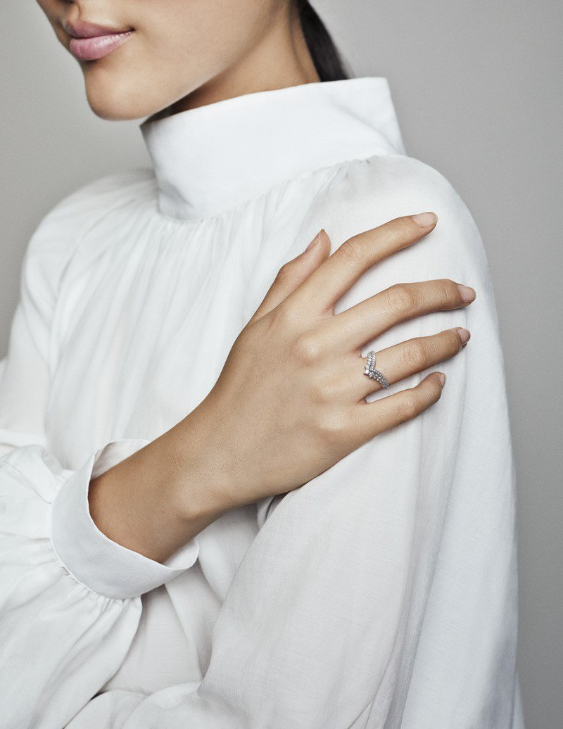 Tiara Wishbone Ring In Sterling Silver Inside Most Current Tiara Wishbone Rings (View 5 of 25)