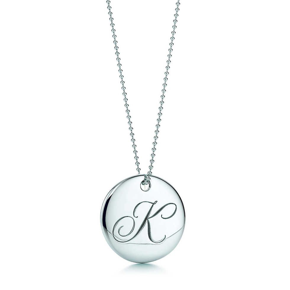 """Tiffany Notes®:letter """"f"""" Round Pendant 