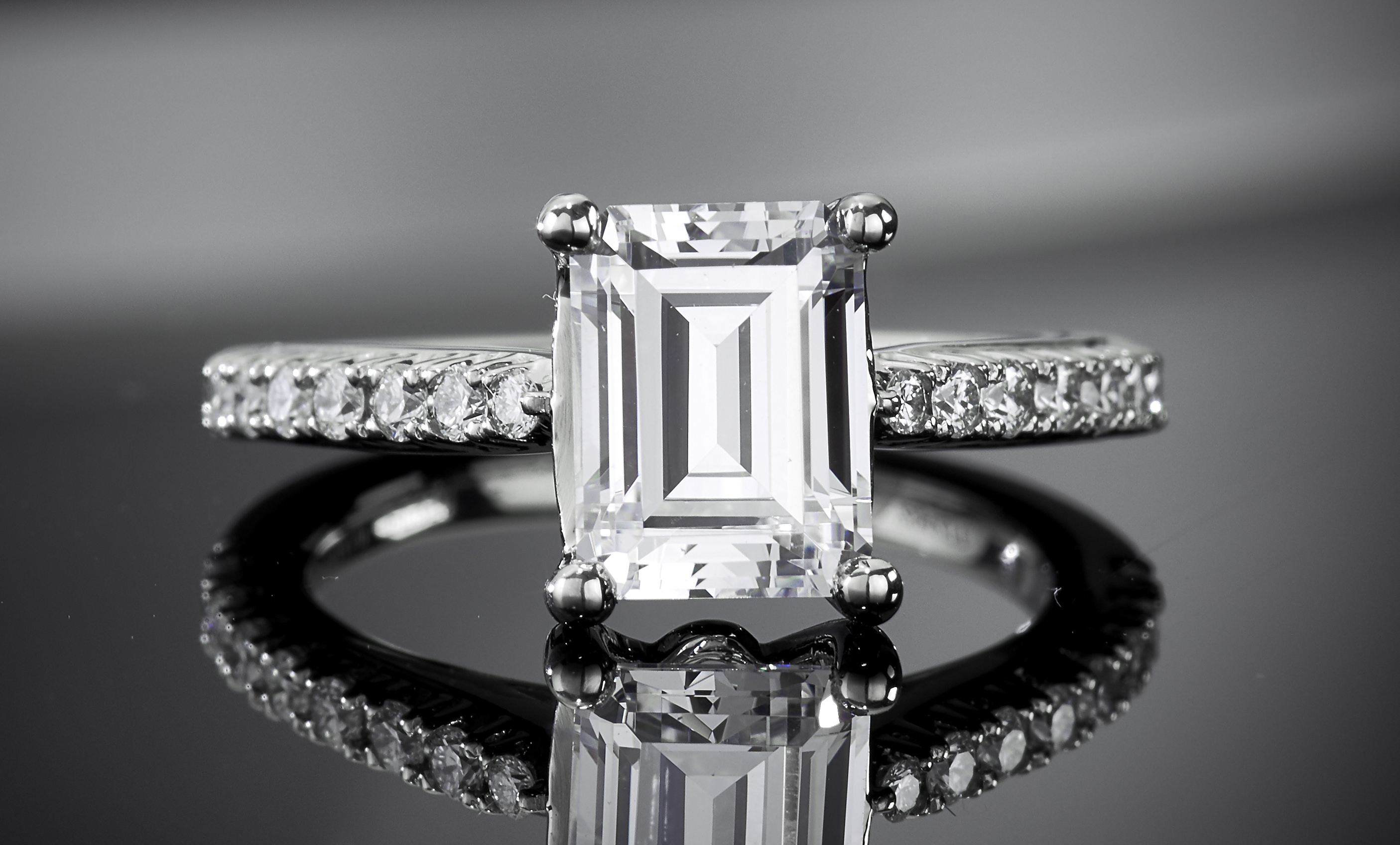 Tips For Buying An Emerald Cut Diamond | Ritani For Best And Newest Classic Sparkle Halo Rings (View 20 of 25)