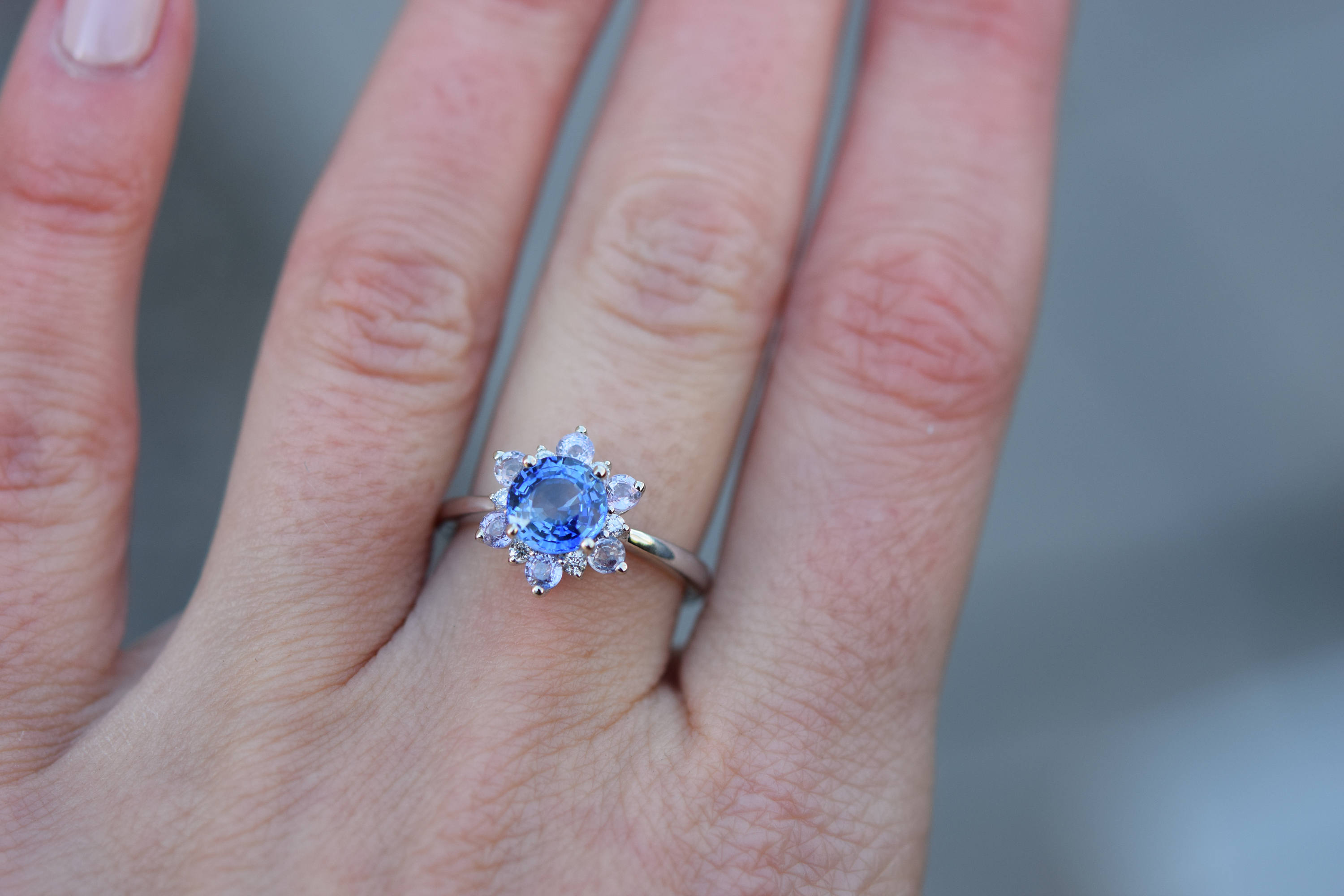 Top 10 Blue Engagement Rings For Women – In All Price Ranges | Jj Inside 2017 Blue Sparkling Crown Rings (Gallery 23 of 25)
