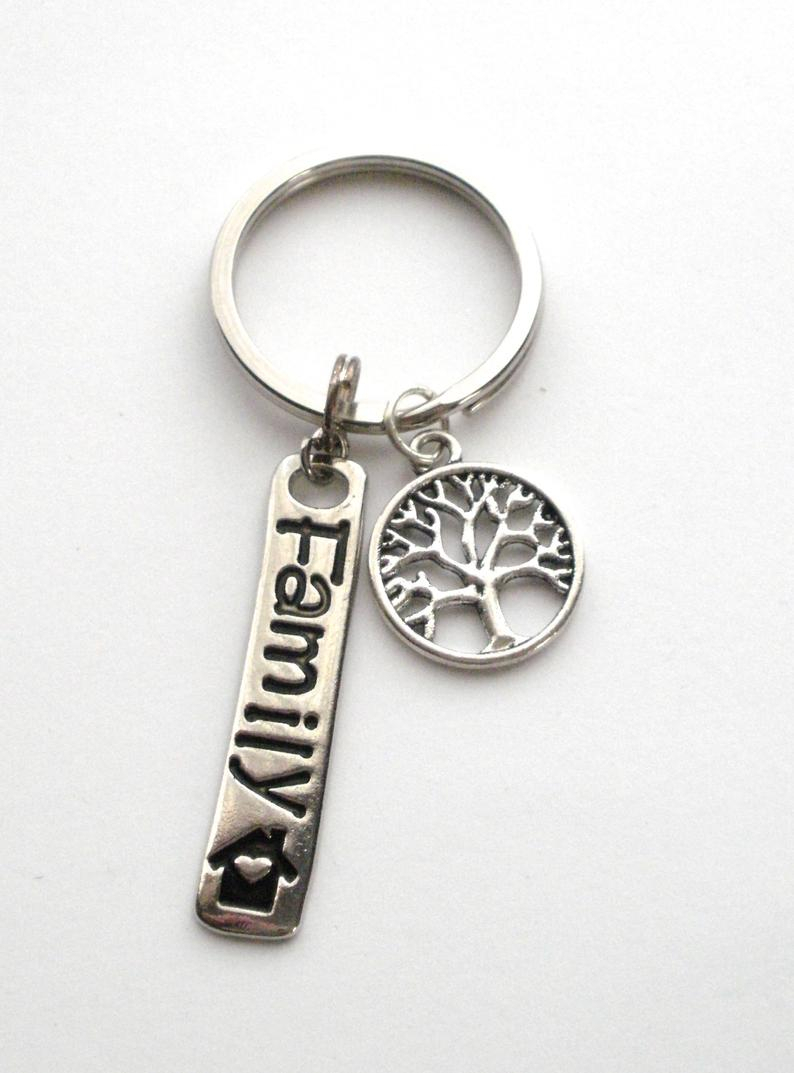 Tree Of Life Key Ring, Family Key Chain, Family Charm & Tree Of Life Key Ring, Christmas Gift, Tree Of Life Charm Key Chain Inside Most Up To Date Dangling Family Tree Rings (Gallery 16 of 25)