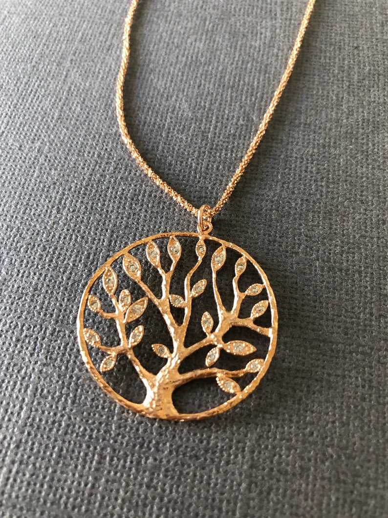 Tree Of Life Pendant Necklace, Tree Necklace, Tree Of Gondor, Family Tree  Necklace, Boho Chic, Gift For Her, Muse411 Throughout Latest Sparkling Family Tree Necklaces (View 25 of 25)