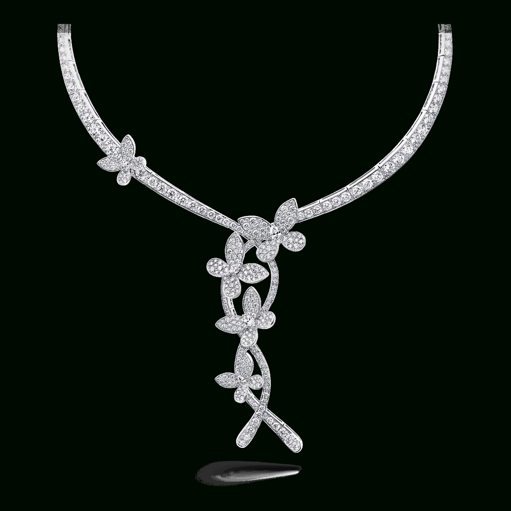 Triple Pavé Butterfly Necklace, Diamond | Graff Pertaining To 2019 Blue Pavé Butterfly Brooch Necklaces (View 20 of 25)