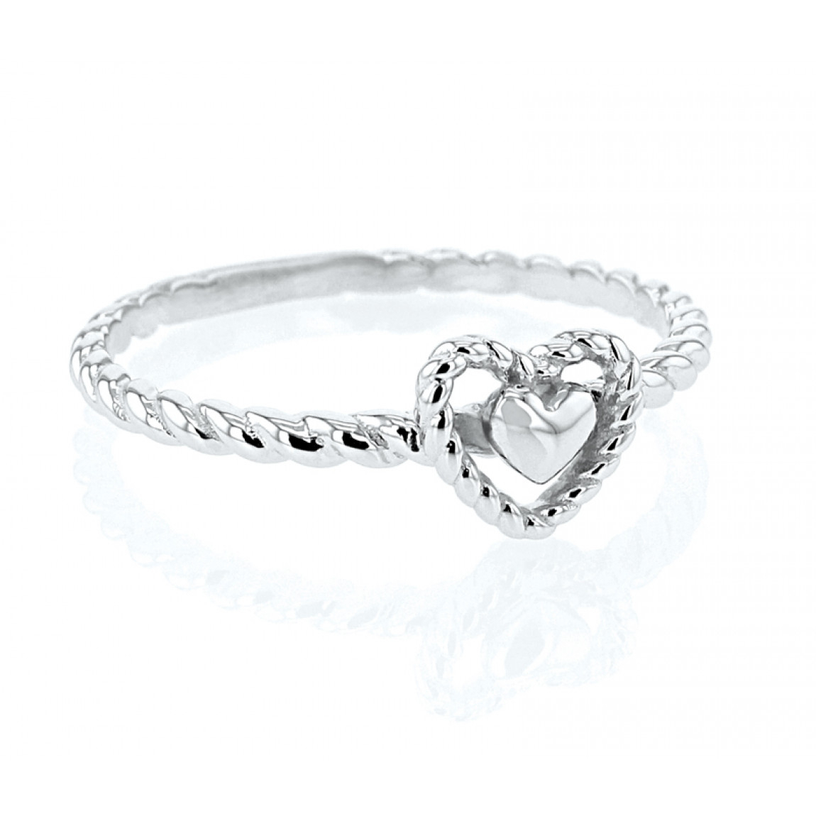 """twisted Heart"" Ring, Sz 5 Throughout Latest Polished Heart Open Rings (View 12 of 25)"