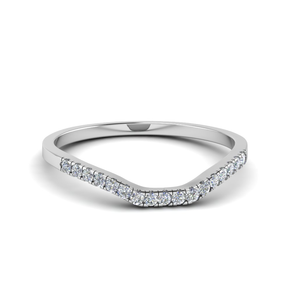 Featured Photo of Diamond Double Row Contour Tiara Anniversary Bands In White Gold