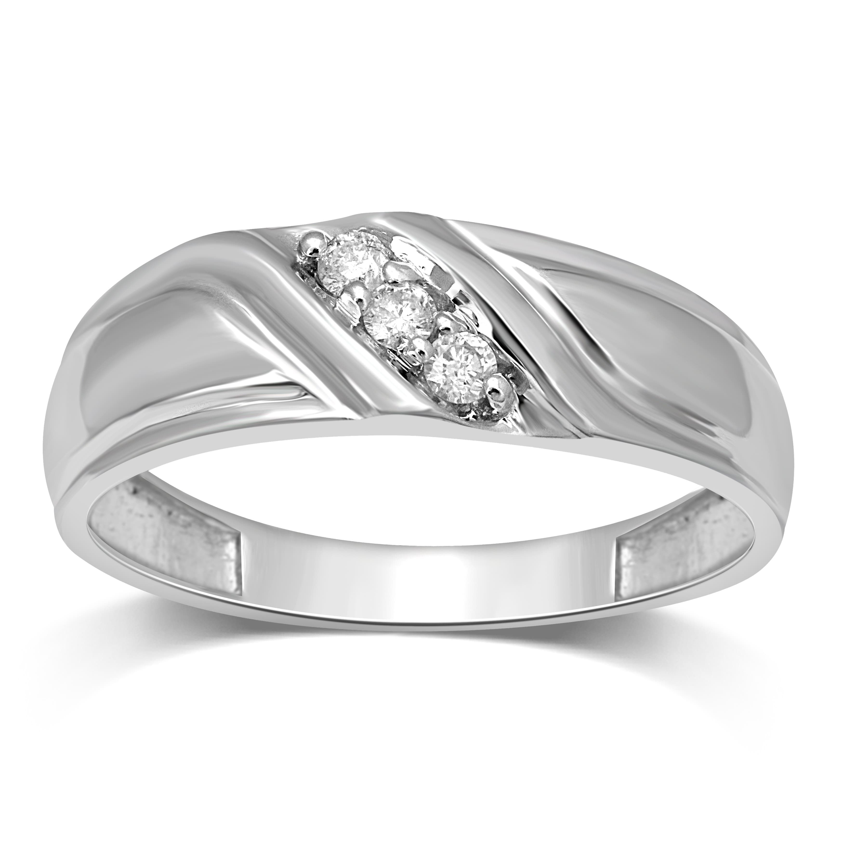 Featured Photo of Diamond Slant Anniversary Bands In White Gold