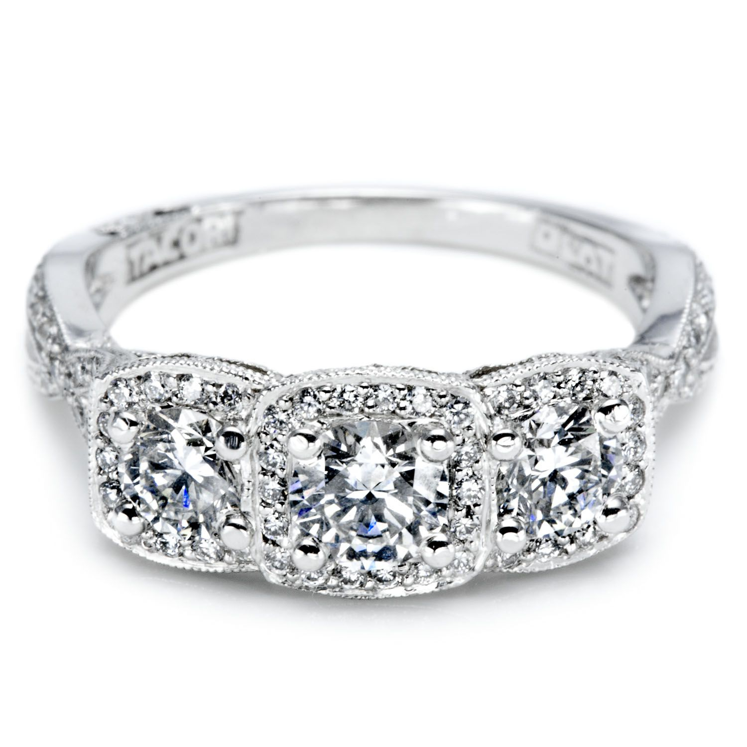 Unique Diamond Anniversary Rings | View Some Examples Of For Best And Newest Princess Cut And Round Diamond Three Row Anniversary Bands In White Gold (Gallery 14 of 25)