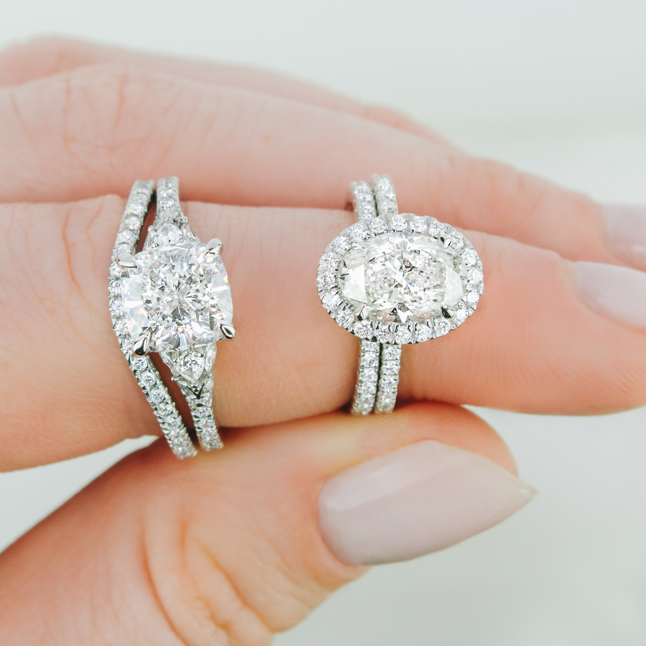 Unique Engagement Rings With Side Stones Intended For Best And Newest Round And Baguette Diamond Vintage Style Anniversary Bands In White Gold (View 17 of 25)