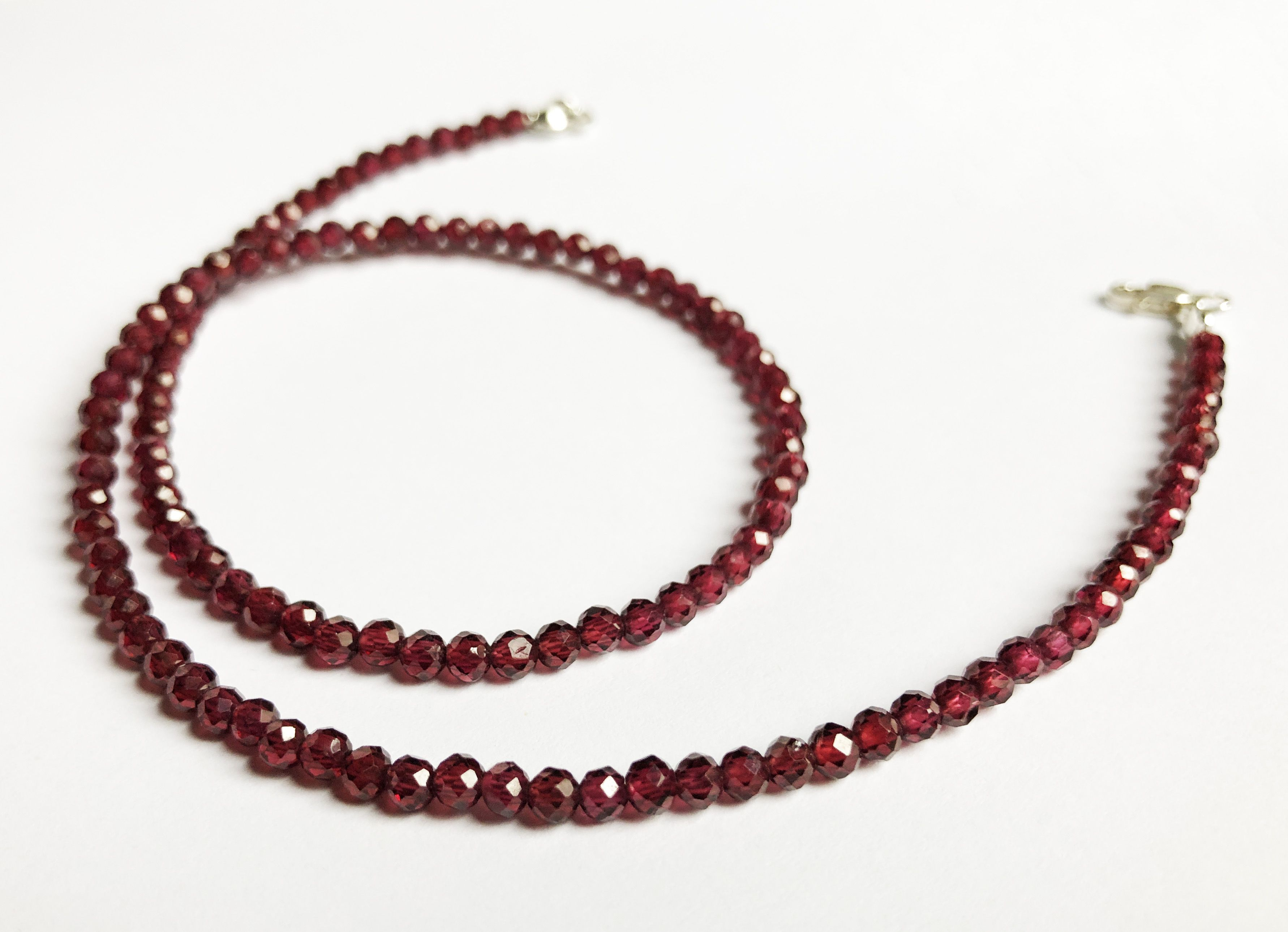 Unique Handmade Gemstone Jewelry Gift For Daughter Red Garnet Bead Inside 2020 Garnet January Droplet Pendant Necklaces (View 9 of 25)
