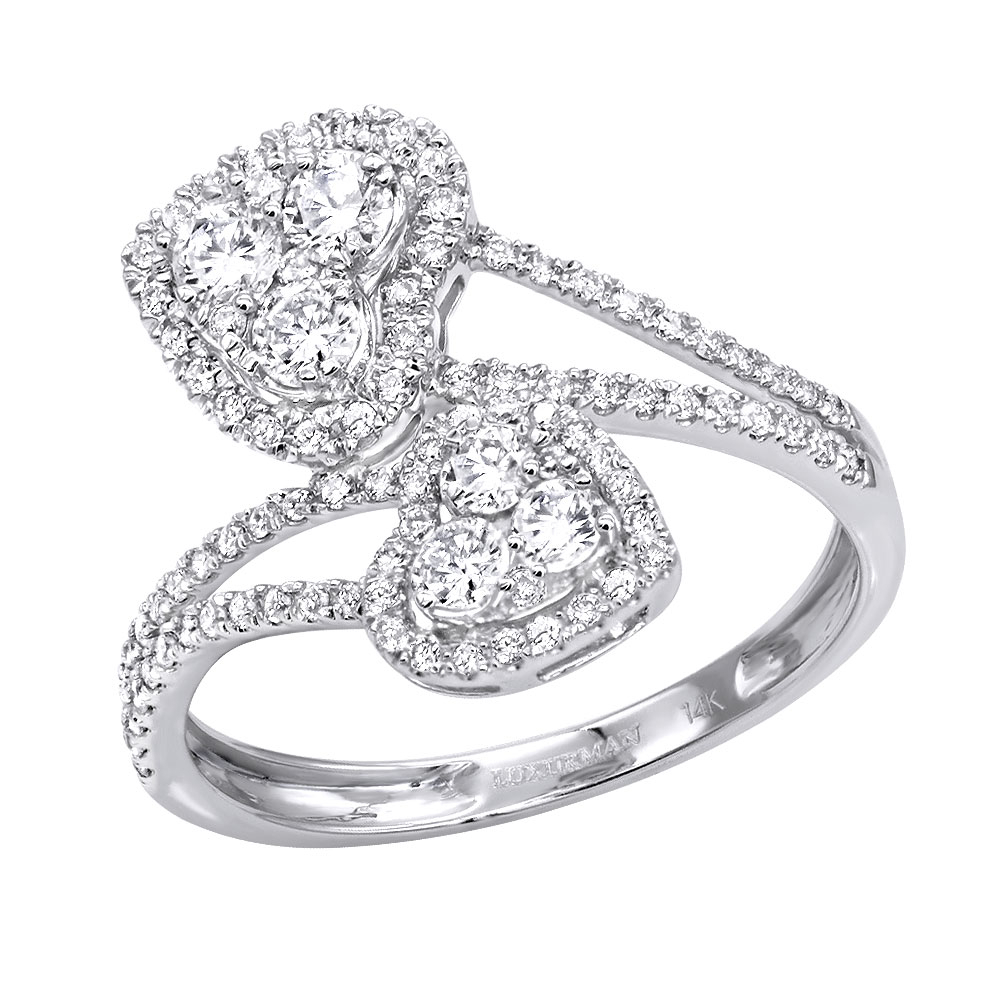 Unique Two Hearts Diamond Ring For Women  (View 22 of 25)