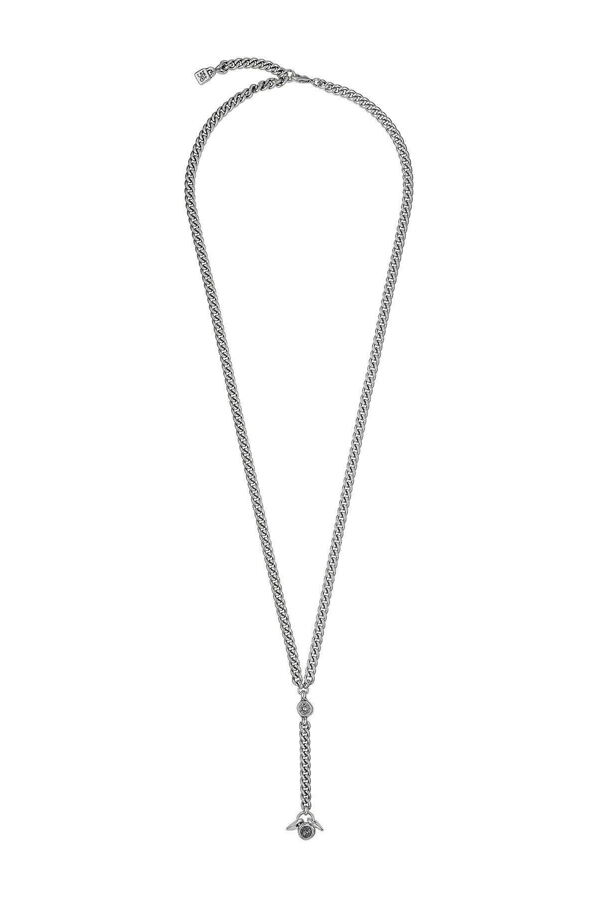 Uno De 50 | Crusoe Bezel Set Swrovski Crystal Element Y Drop Necklace |  Nordstrom Rack For Newest Letter Y Alphabet Locket Element Necklaces (View 21 of 25)