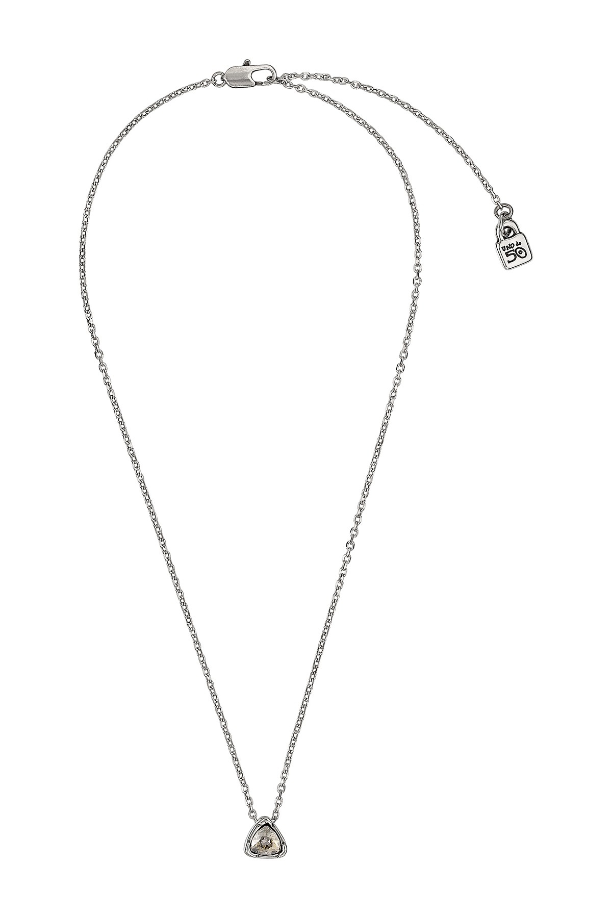 Uno De 50 | Star Trick Triangular Swarovski Crystal Element Pendant  Necklace | Nordstrom Rack For Best And Newest Pavé Star Locket Element Necklaces (Gallery 8 of 25)