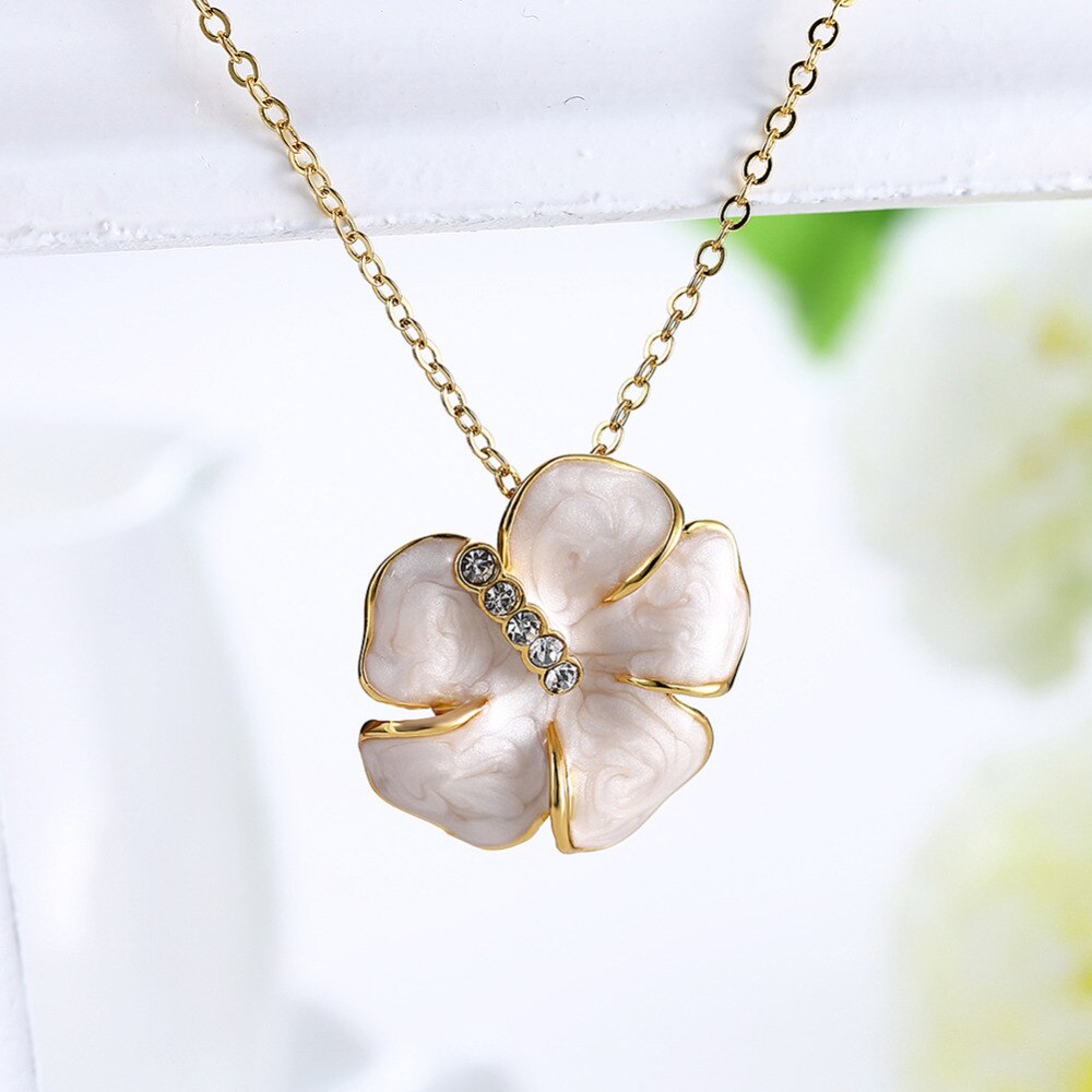Uroru 2017 Necklace /personalized Custom Eco Friendly Flower Pendant  Necklace Wholesale/the Four Leaf Pendant Necklace Regarding Current Four Petal Flower Necklaces (Gallery 19 of 25)