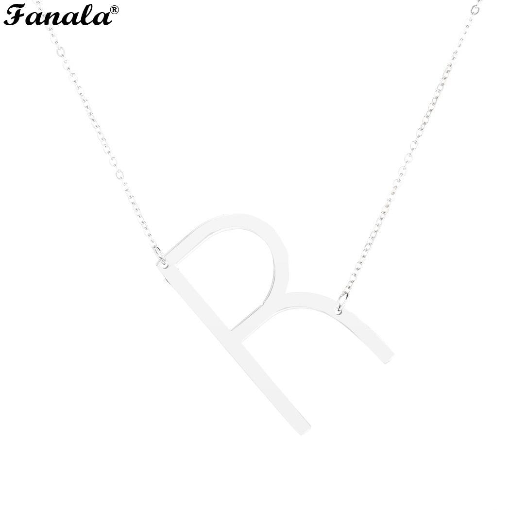 Us $0.84 5% Off|Steel Jewelry Fashion A Z Alphabet Necklace Chain Letter  Stainless Women Pendant In Pendant Necklaces From Jewelry & Accessories On In Most Recent Letter C Alphabet Locket Element Necklaces (Gallery 25 of 25)