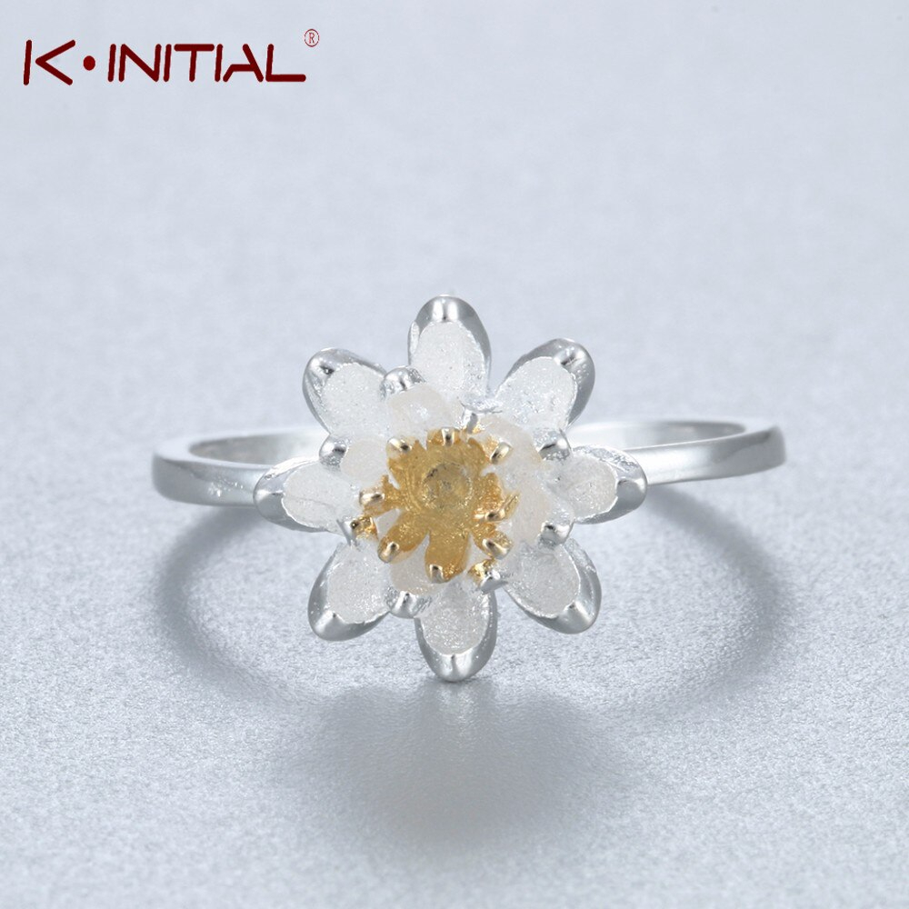 Us $1.19 65% Off|Kinitial Cute Silver Plated Chrysanthemum Flowers Ring For  Women Adjustable Daisy Flower Wedding Ring Engagement Jewelry In Rings In Newest Daisy Flower Rings (Gallery 8 of 25)