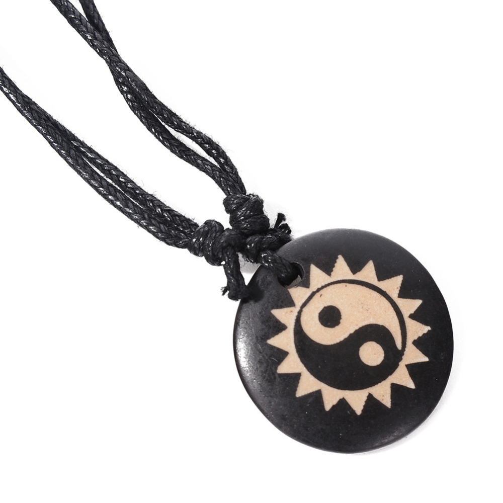 Us $1.27 |Yin And Yang Five Elements Eight Characters Tai Chi Compass  Amulet Necklace 7 Style For Women Or Men Gift  In Pendant Necklaces From  Jewelry Regarding Most Recent Letter X Alphabet Locket Element Necklaces (Gallery 10 of 25)