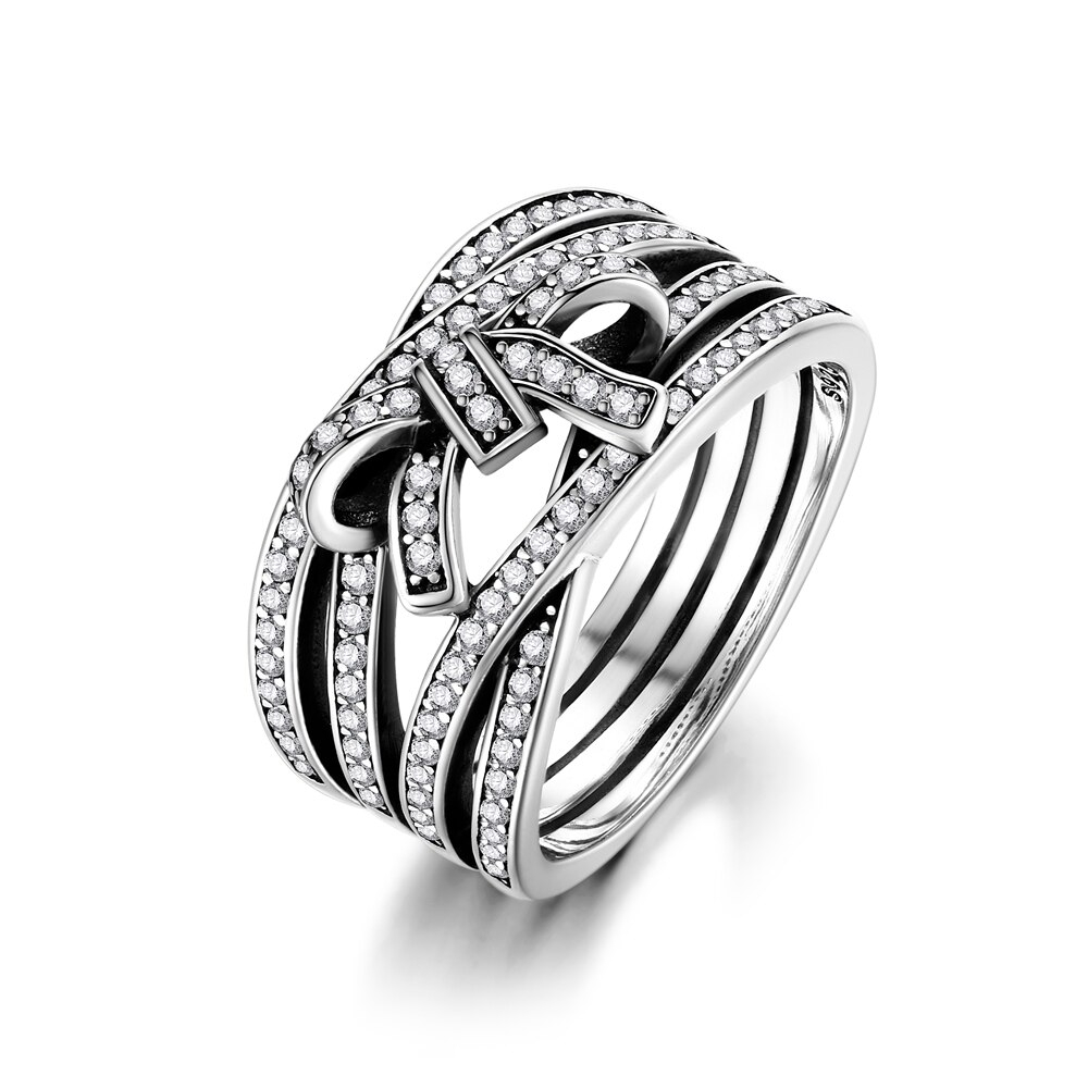 Us $10.44 51% Off|Nasia New Classic 925 Sterling Silver Big Bow Knot  Delicate Intertwine Ring Finger Ring For Women Wedding Fine Jewelry In  Rings From Throughout Latest Classic Bow Rings (Gallery 5 of 25)
