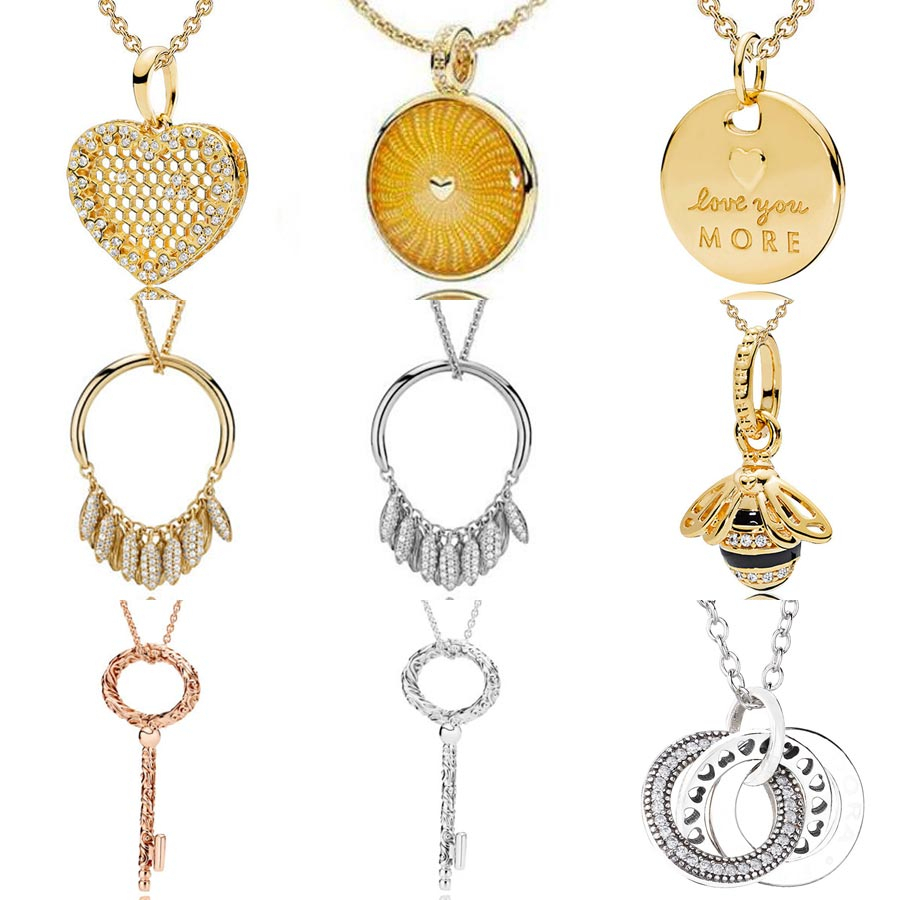 Us $11.51 32% Off|Shine Queen Bee Honeycomb Lace Regal Key Circle Of Seeds  Necklace For Women Gift Europe Jewelry 925 Sterling Silver Necklace In For Most Current Regal Key Pendant Necklaces (Gallery 12 of 25)