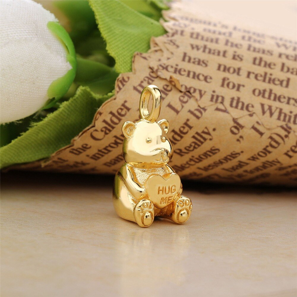 Us $11.98 |2018 New Authentic 925 Sterling Silver Shine Theodore Bear Charm  Fit Pandora Bracelet Necklace Pendant Diy Jewellery In Charms From Jewelry For 2020 Theodore Bear Pendant Necklaces (Gallery 5 of 25)