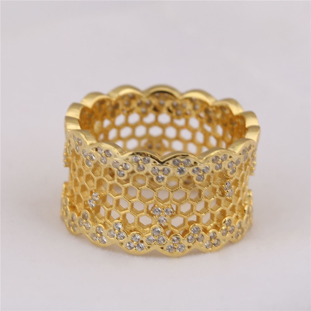 Featured Photo of Honeycomb Lace Rings