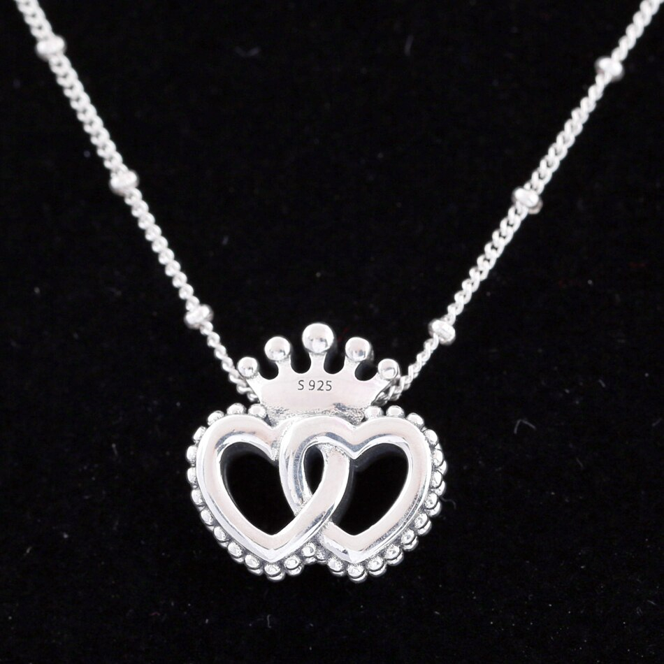 Featured Photo of Crown & Interwined Hearts Pendant Necklaces