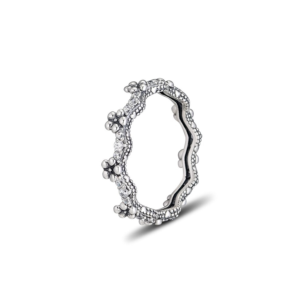 Us $15.51 25% Off|925 Jewelry Flower Crown Ring For Women Fashion Making  Anniversary Gift Sterling Silver Original Ring Pandocci  In Rings From Within Most Recently Released Flower Crown Rings (Gallery 9 of 25)