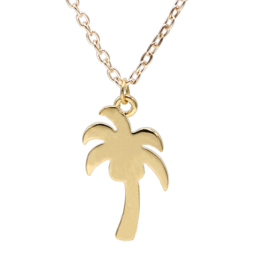 Us $2.1 15% Off|Simple Design Tiny Plant Necklace Jewelry Coconut Tree Necklace Jewelry Tropical Bottle Necklace Coconut Palm Necklace In Pendant With Regard To Most Recent Tropical Palm Pendant Necklaces (Gallery 25 of 25)