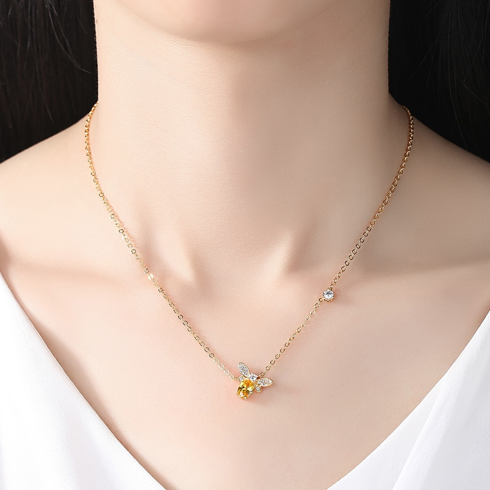 Us $2.39 10% Off|Hot Sale18K Gold Jewelery Cute Queen Bee Pendant Necklace  Charm For Women Necklace Jewelry Gift Wicca Chakra Angel In Chain Necklaces In Most Recently Released Queen Bee Pendant Necklaces (Gallery 16 of 25)