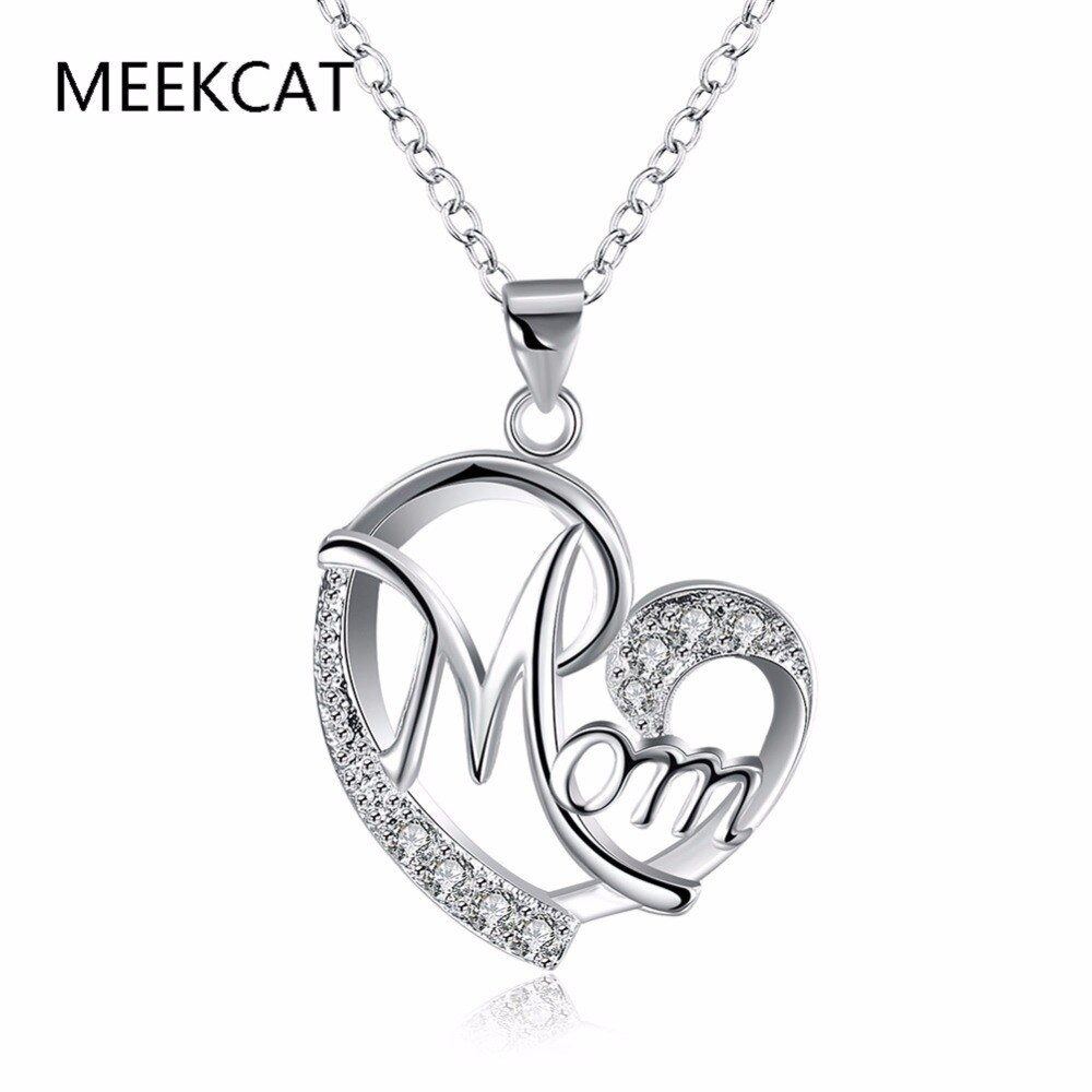Us $3.05 49% Off|Top Qualitly Love Mom Gift Great Mama Heart Pendant  Necklace Silver Plated Jewelry Mother Day Gift Ideas For Mother Mum  Letters In In Current Letter S Alphabet Locket Element Necklaces (Gallery 15 of 25)
