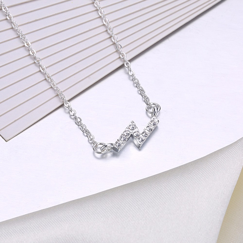 Us $3.56 49% Off|Lekani Women Classic Alphabet Letter Necklace Z Shape  Pendant 925 Sterling Silver Fine Jewelry Necklace With Clear Cz In  Necklaces With Current Letter Z Alphabet Locket Element Necklaces (Gallery 25 of 25)