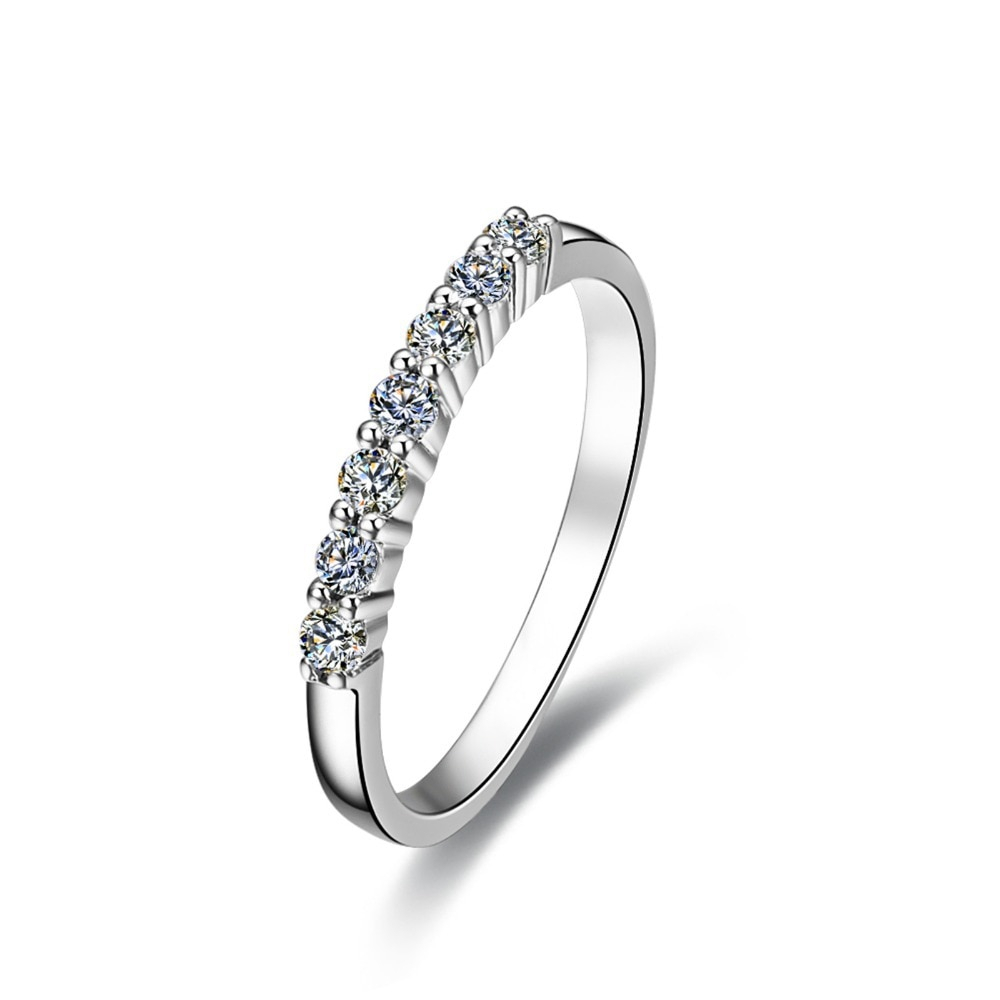 Us $34.99 50% Off|Sterling Silver Wholesale 7Stone 925 Ring For Women  Wedding Band Quality Diamond Female Infinity Band Platinum Plated In Rings  From With Most Recently Released Simple Infinity Band Rings (Gallery 16 of 25)